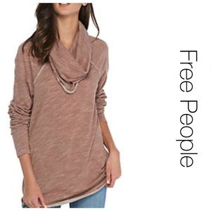 Free People Cowl Neck Cocoon Pullover M